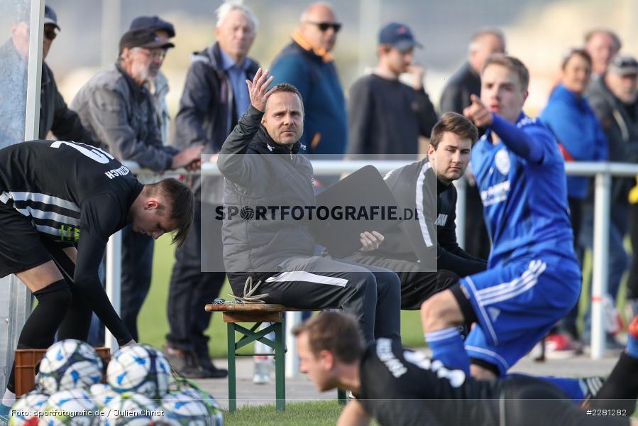 Maximilian Müller, Carsten Lanik, sport, action, TSV Retzbach, TSV Lohr, Sportgelände, Retzbach, Oktober 2020, Fussball, DFB, Bezirksliga Unterfranken, 04.10.2020 - Bild-ID: 2281282