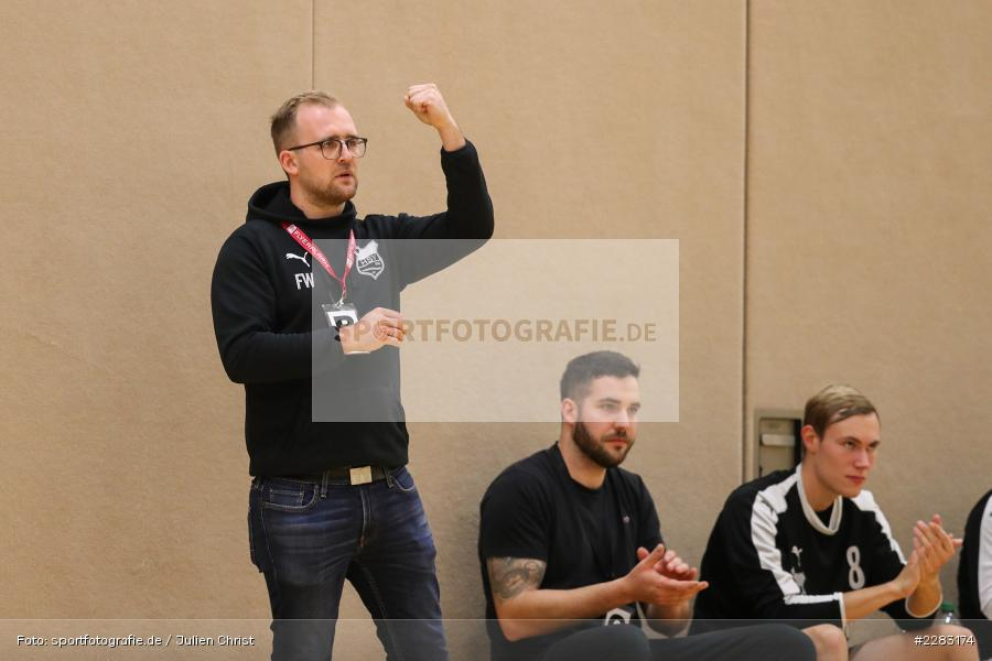 Florian Wolf, Raiffeisen-Sporthalle, Thüngersheim, 18.10.2020, sport, action, Saison 2020/2021, Handball, sports, Bezirksliga Herren, Deutschland, Oktober 2020, TSV Karlstadt, HSV Thüngersheim - Bild-ID: 2283174