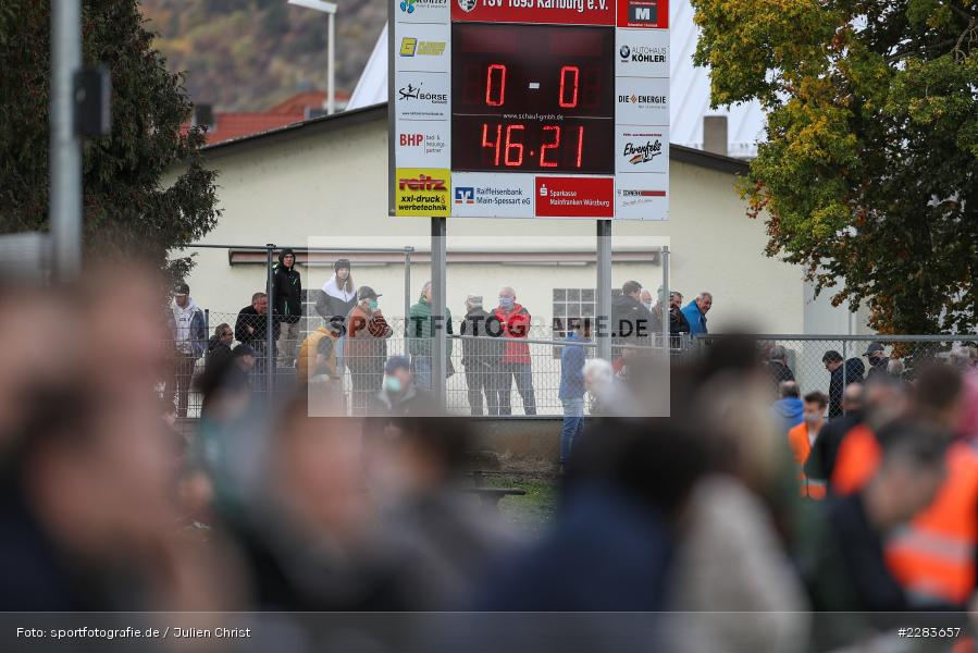 Sportgelände In der Au, Karlburg, 24.10.2020, BFV, sport, action, Fussball, Deutschland, Oktober 2020, Saison 2019/2020, Bayernliga Nord, TSV Grossbardorf, TSV Karlburg - Bild-ID: 2283657