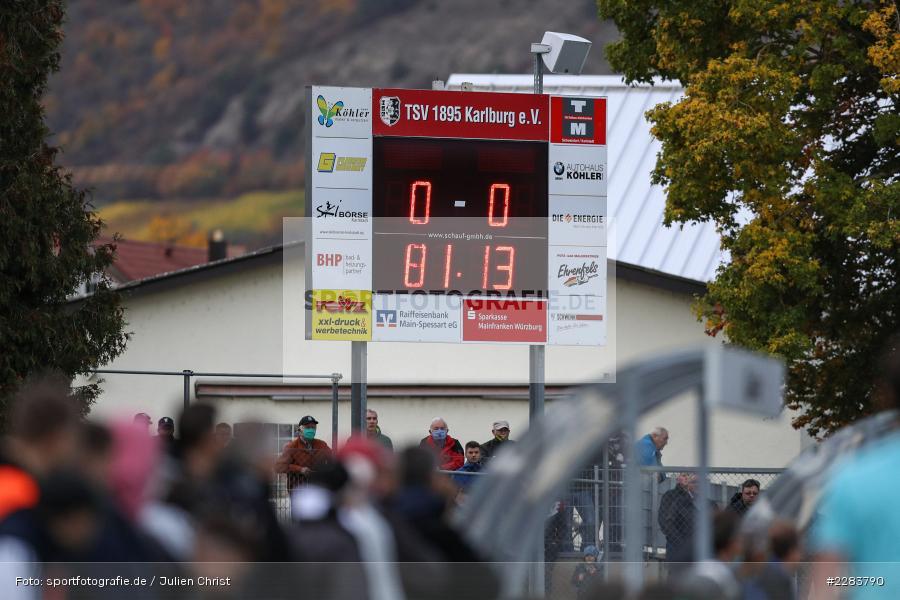 Sportgelände In der Au, Karlburg, 24.10.2020, BFV, sport, action, Fussball, Deutschland, Oktober 2020, Saison 2019/2020, Bayernliga Nord, TSV Grossbardorf, TSV Karlburg - Bild-ID: 2283790