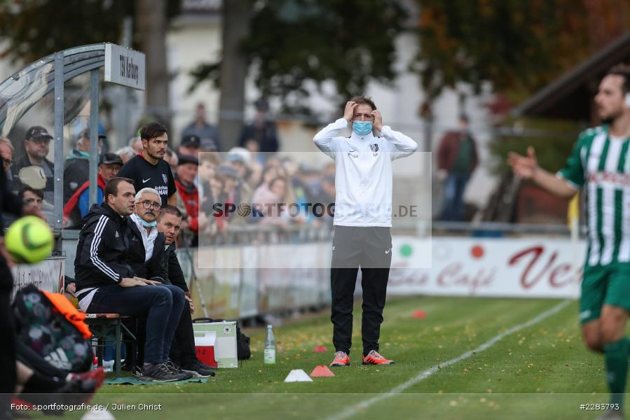 Markus Köhler, Sportgelände In der Au, Karlburg, 24.10.2020, BFV, sport, action, Fussball, Deutschland, Oktober 2020, Saison 2019/2020, Bayernliga Nord, TSV Grossbardorf, TSV Karlburg - Bild-ID: 2283793