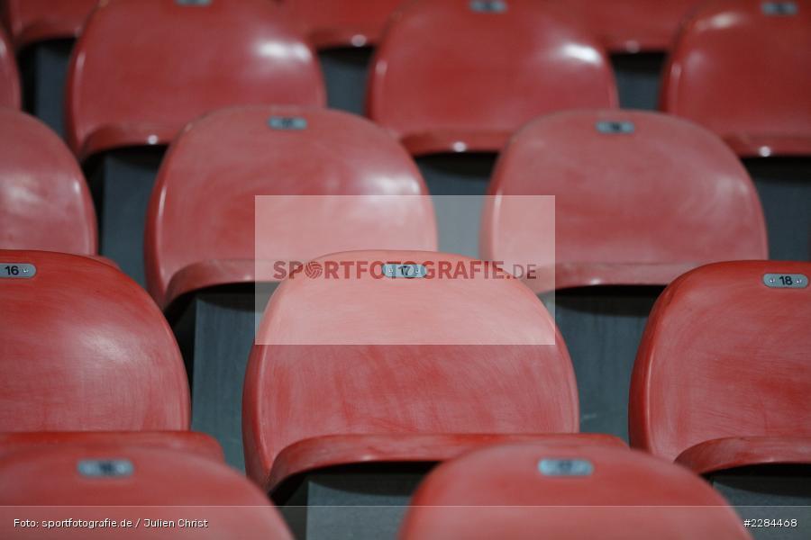 Sitzschale, Keine Zuschauer, Leere Ränge, Geisterspiel, Voith-Arena, Heidenheim, 06.11.2020, DFL, sport, action, Fussball, Deutschland, November 2020, Saison 2020/2021, Bundesliga, 2. Bundesliga, FC Würzburger Kickers, 1. FC Heidenheim - Bild-ID: 2284468