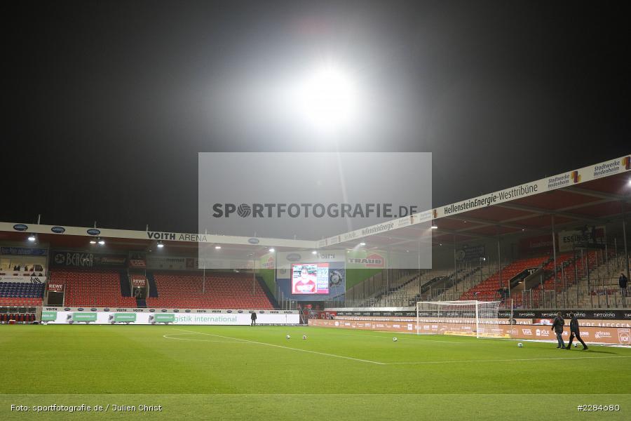 sport, action, Voith-Arena, Saison 2020/2021, November 2020, Infotafel, Heidenheim, Fussball, Flutlicht, FC Würzburger Kickers, Deutschland, DFL, Bundesliga, 2. Bundesliga, 1. FC Heidenheim, 07.11.2020 - Bild-ID: 2284680