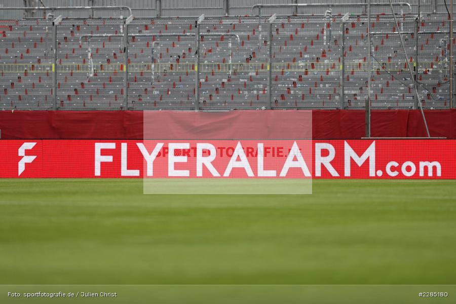 Werbung, FLYERALARM.com, LED Werbebande, FLYERALARM Arena, Würzburg, 22.11.2020, DFL, sport, action, Fussball, Deutschland, November 2020, Saison 2020/2021, 2. Bundesliga, Hannover 96, FC Würzburger Kickers - Bild-ID: 2285180