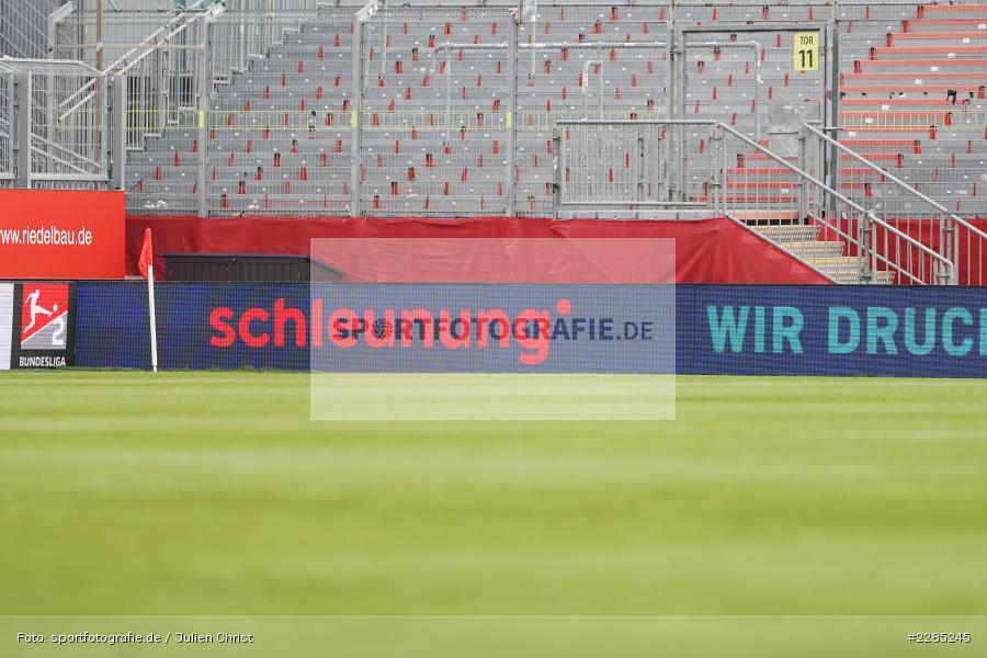 schleunung Druck, LED-Werbebande, FLYERALARM Arena, Würzburg, 22.11.2020, DFL, sport, action, Fussball, Deutschland, November 2020, Saison 2020/2021, 2. Bundesliga, Hannover 96, FC Würzburger Kickers - Bild-ID: 2285245