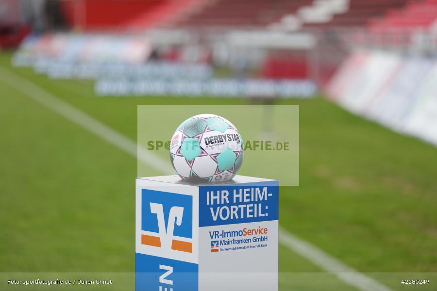 VR-ImmoService, Präsentiert, Official Matchball, FLYERALARM Arena, Würzburg, 22.11.2020, DFL, sport, action, Fussball, Deutschland, November 2020, Saison 2020/2021, 2. Bundesliga, Hannover 96, FC Würzburger Kickers - Bild-ID: 2285249