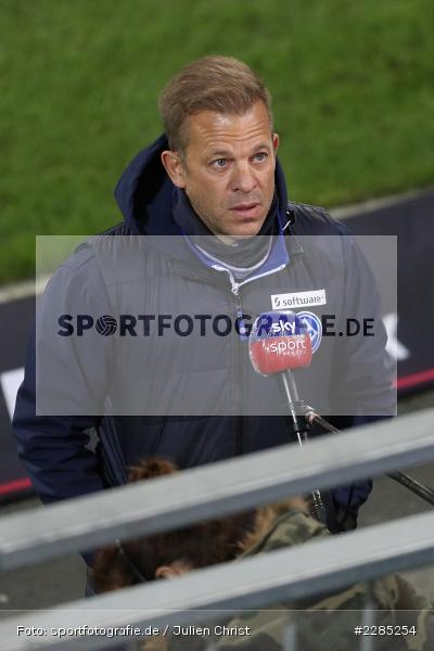 sky sport, Interview, Trainer, Markus Anfang, Merck-Stadion am Böllenfalltor, Darmstadt, 27.11.2020, DFL, sport, action, Fussball, Deutschland, November 2020, Saison 2020/2021, 2. Bundesliga, Eintracht Braunschweig, SV Darmstadt 98 - Bild-ID: 2285254