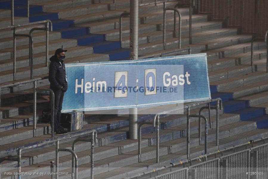 Analog, Spielstand, Anzeige, Merck-Stadion am Böllenfalltor, Darmstadt, 27.11.2020, DFL, sport, action, Fussball, Deutschland, November 2020, Saison 2020/2021, 2. Bundesliga, Eintracht Braunschweig, SV Darmstadt 98 - Bild-ID: 2285303