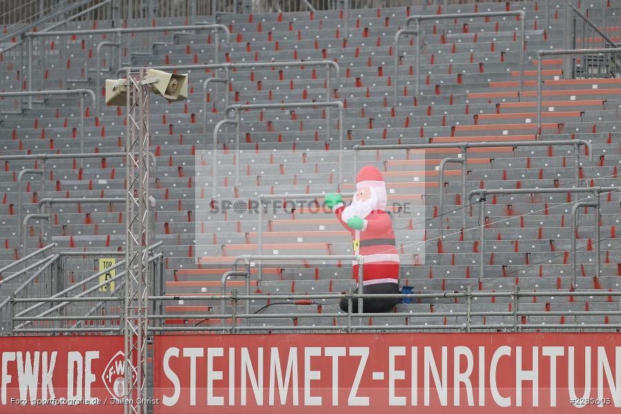 Leere Ränge, Geisterspiel, Nikolaus, FLYERALARM Arena, Würzburg, 06.12.2020, DFL, sport, action, Fussball, Deutschland, Dezember 2020, Saison 2020/2021, 2. Bundesliga, SV Sandhausen, FC Würzburger Kickers - Bild-ID: 2285603