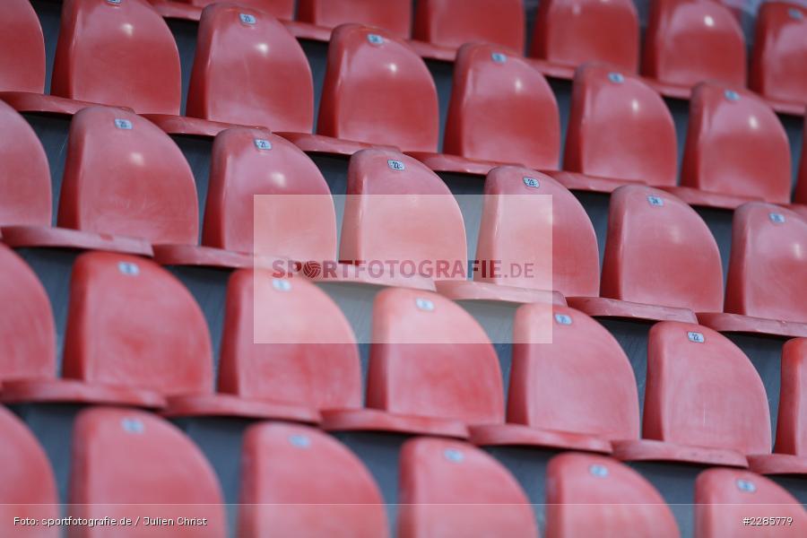 Leere Sitze, Geisterspiel, Voith-Arena, Heidenheim, 12.12.2020, DFL, sport, action, Fussball, Deutschland, Dezember 2020, Saison 2020/2021, 2. Bundesliga, Hannover 96, 1. FC Heidenheim 1846 - Bild-ID: 2285779