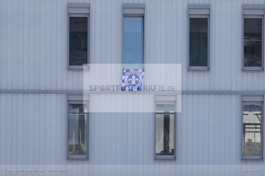 Darmstadt 98-Fahne, Merck-Stadion, Darmstadt, 10.01.2021, DFL, sport, action, Fussball, Deutschland, Januar 2021, Saison 2020/2021, H96, D98, Bundesliga, 2. Bundesliga, Hannover 96, SV Darmstadt 98 - Bild-ID: 2286725