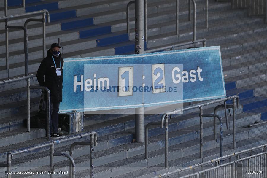 Endstand, Merck-Stadion, Darmstadt, 10.01.2021, DFL, sport, action, Fussball, Deutschland, Januar 2021, Saison 2020/2021, H96, D98, Bundesliga, 2. Bundesliga, Hannover 96, SV Darmstadt 98 - Bild-ID: 2286801