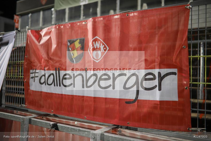 Banner, dallenberger, FLYERALARM Arena, Würzburg, 16.01.2021, DFL, sport, action, Fussball, Deutschland, Januar 2021, Saison 2020/2021, EBS, FWK, Bundesliga, 2. Bundesliga, Eintracht Braunschweig, FC Würzburger Kickers - Bild-ID: 2287020