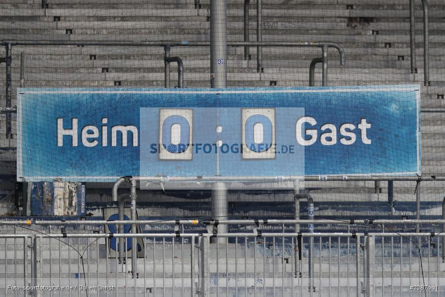 Analog, Anzeigetafel, Merck-Stadion, Darmstadt, 24.01.2021, DFL, sport, action, Fussball, Deutschland, Januar 2021, Saison 2020/2021, KSV, D98, Bundesliga, 2. Bundesliga, Holstein Kiel, SV Darmstadt 98 - Bild-ID: 2287661