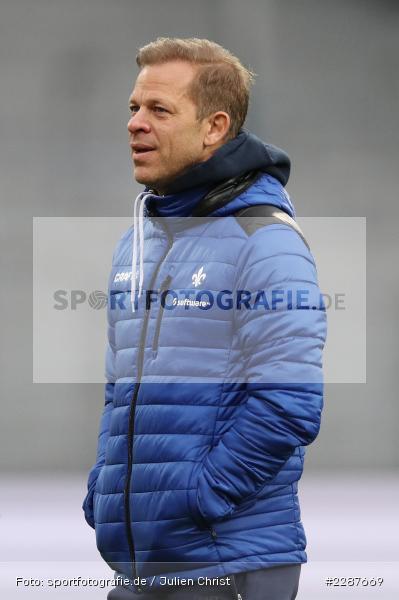 Markus Anfang, Merck-Stadion, Darmstadt, 24.01.2021, DFL, sport, action, Fussball, Deutschland, Januar 2021, Saison 2020/2021, KSV, D98, Bundesliga, 2. Bundesliga, Holstein Kiel, SV Darmstadt 98 - Bild-ID: 2287669