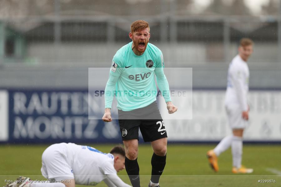 Tor, Torjubel, Mathias Fetsch, Main-Echo Arena, Alzenau, 27.03.2021, DFL, sport, action, Fussball, Deutschland, März 2021, Saison 2020/2021, OFC, FCB, 4. Liga, Regionalliga, Regionalliga Südwest, Kickers Offenbach, FC Bayern Alzenau - Bild-ID: 2290576