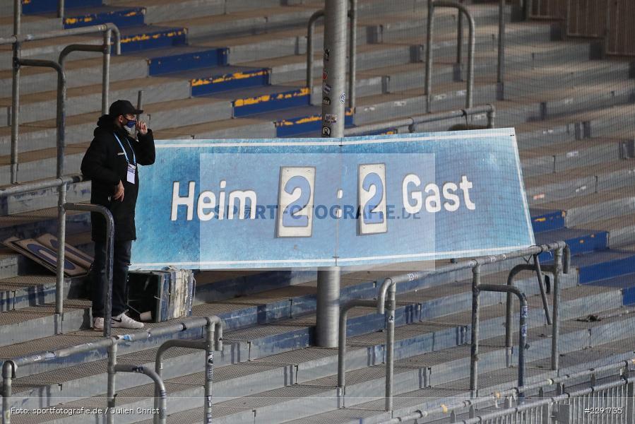Anzeigetafel, Endstand, Merck-Stadion, Darmstadt, 16.04.2021, DFL, sport, action, Fussball, Deutschland, April 2021, Saison 2020/2021, SGF, SVD, Bundesliga, 2. Bundesliga, SpVgg Greuther Fürth, SV Darmstadt 98 - Bild-ID: 2291735