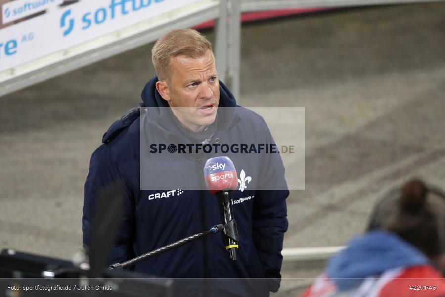 Interview, Markus Anfang, Merck-Stadion, Darmstadt, 16.04.2021, DFL, sport, action, Fussball, Deutschland, April 2021, Saison 2020/2021, SGF, SVD, Bundesliga, 2. Bundesliga, SpVgg Greuther Fürth, SV Darmstadt 98 - Bild-ID: 2291743