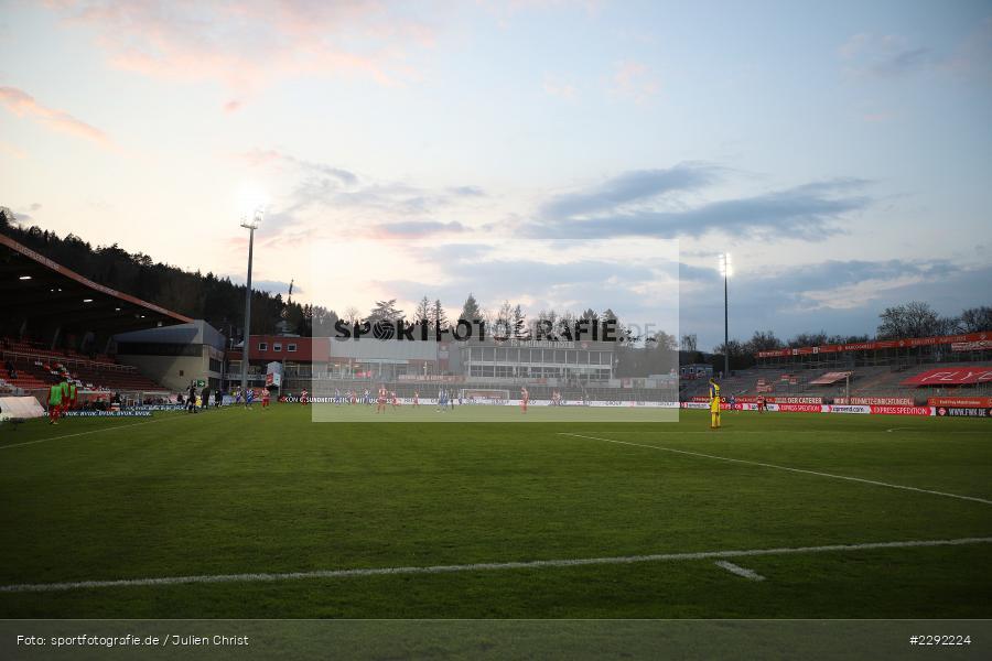 Flutlicht, Abendstimmung, Stadion, FLYERALARM-Arena, Würzburg, 20.04.2021, DFL, sport, action, Fussball, Deutschland, April 2021, Saison 2020/2021, SVD, FWK, Bundesliga, 2. Bundesliga, SV Darmstadt 98, FC Würzburger Kickers - Bild-ID: 2292224