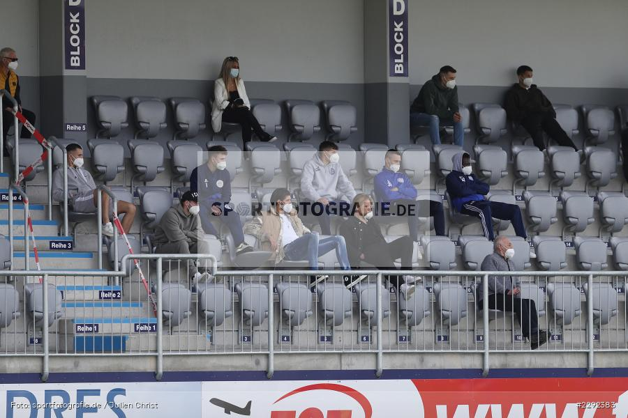 Ersatz, Tribüne, Main-Echo Arena, Alzenau, 24.04.2021, DFB, sport, action, Fussball, Deutschland, April 2021, Saison 2020/2021, FKP, FCB, 4. Liga, Regionalliga, Regionalliga Südwest, FK Pirmasens, FC Bayern Alzenau - Bild-ID: 2292383