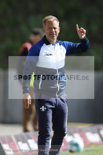 Markus Anfang, Merck-Stadion, Darmstadt, 16.05.2021, DFL, sport, action, Fussball, Deutschland, Mai 2021, Saison 2020/2021, FCH, SVD, Bundesliga, 2. Bundesliga, FC Heidenheim 1846, SV Darmstadt 98 - Bild-ID: 2293914