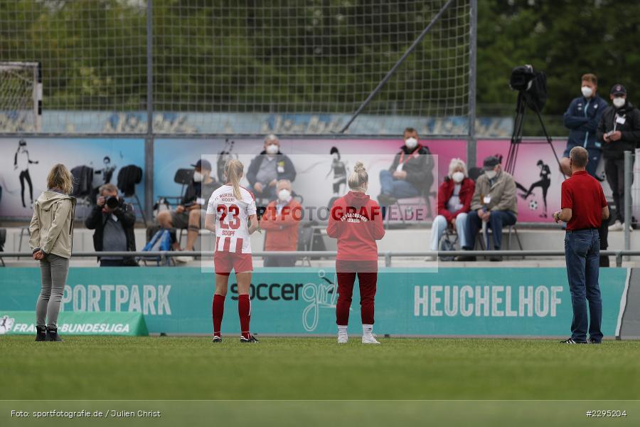 Jenaya Robertson, Maike Schopf, Soccergirl Sportpark, Würzburg, 06.06.2021, DFL, sport, action, Fussball, Deutschland, Juni 2021, Saison 2020/2021, TSG, FWK, Frauen, Süd, 2. Frauen-Bundesliga, TSG Hoffenheim U20, FC Würzburger Kickers - Bild-ID: 2295204