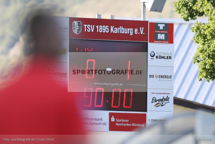 Spielstand, Anzeigetafel, Sportplatz, Karlburg, 14.08.2021, BFV, sport, action, Fussball, Deutschland, August 2021, Bayernliga Nord, Saison 2021/2022, SPA, TSV, SpVgg Ansbach, TSV Karlburg - Bild-ID: 2303437