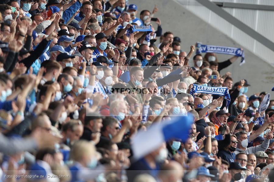 Fans, Merck-Stadion, Darmstadt, 28.08.2021, DFL, sport, action, Fussball, Deutschland, August 2021, Saison 2021/2022, 2. Bundesliga, H96, SVD, Hannover 96, SV Darmstadt 98 - Bild-ID: 2304274