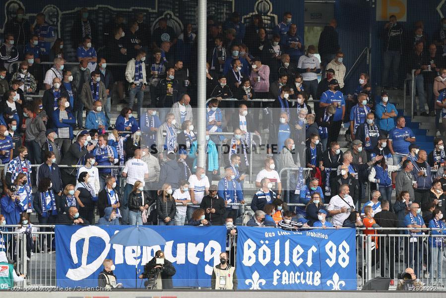 Fans, Merck-Stadion, Darmstadt, 28.08.2021, DFL, sport, action, Fussball, Deutschland, August 2021, Saison 2021/2022, 2. Bundesliga, H96, SVD, Hannover 96, SV Darmstadt 98 - Bild-ID: 2304292