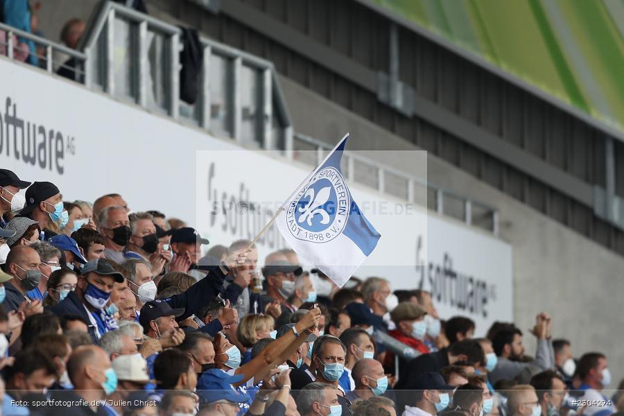 Fahne, Merck-Stadion, Darmstadt, 28.08.2021, DFL, sport, action, Fussball, Deutschland, August 2021, Saison 2021/2022, 2. Bundesliga, H96, SVD, Hannover 96, SV Darmstadt 98 - Bild-ID: 2304294
