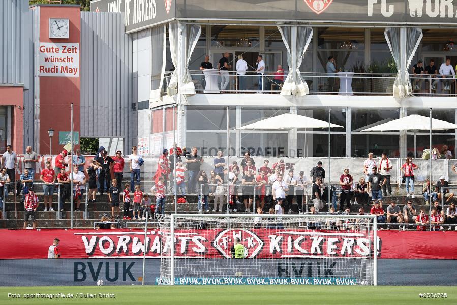 Banner, Transparent, FLYERALARM Arena, Würzburg, 11.09.2021, DFB, sport, action, Fussball, Deutschland, September 2021, Saison 2021/2022, TSV, FWK, 3. Liga, TSV Havelse, FC Würzburger Kickers - Bild-ID: 2306785