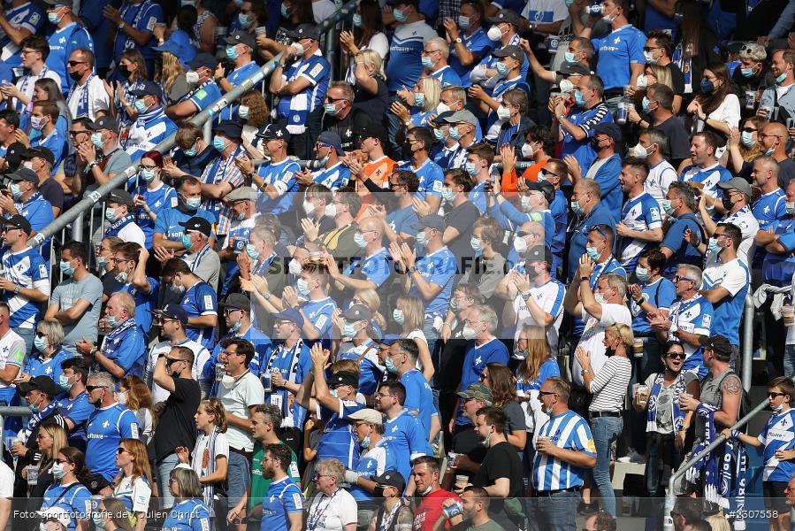 Fans, Merck-Stadion, Darmstadt, 19.09.2021, DFL, sport, action, Fussball, Deutschland, September 2021, Saison 2021/2022, SGD, SVD, 2. Bundesliga, SG Dynamo Dresden, SV Darmstadt 98 - Bild-ID: 2307558