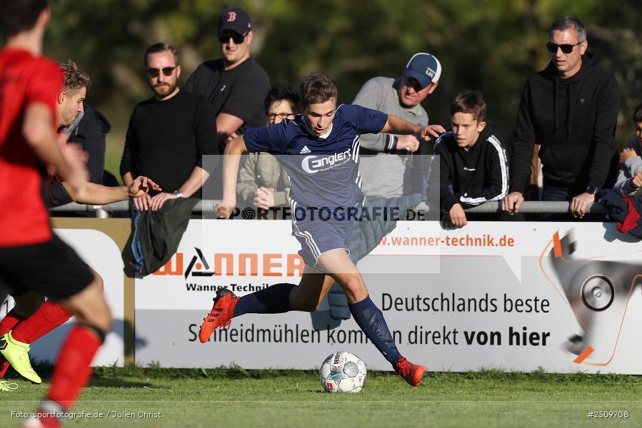 Luca Englert, Sportgelände, Wertheim, 10.10.2021, BFV, sport, action, Fussball, Deutschland, Oktober 2021, Saison 2021/2022, Kreisliga TBB, DHK, VFB, Kickers DHK Wertheim, VfB Reicholzheim - Bild-ID: 2309708